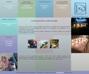 Une soci�t� de production audio visuelle nous confie la r�alisation de leur site Internet